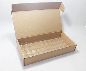 Kit Caixa Transporte (caixa + berço) para 50 doces c/ 10 unidades