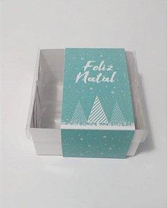 Caixa para 04 doces tema Natal (pacote c/20 unidades)