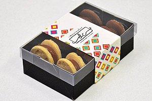 Caixa para 06 doces Personalizada - Kit com 100 unidades
