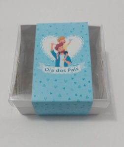"Caixa para 04 doces c/cinta ""Dia dos Pais""- Pct c/20 unidades"