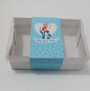 """Caixa para 02 Brownies com cinta """"Dia dos Pais"""" c/20 unidades"""