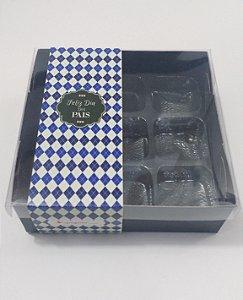 Caixa para 9 doces Luxo Dia dos Pais - Pct c/20 unidades