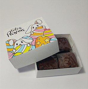 Caixa para 9 doces Toda em Papel - Estampas Páscoa