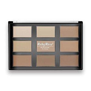 Paleta de Pó Facial Profissional - Ruby Rose