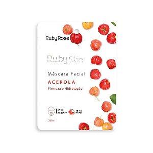 Máscara Facial de Tecido Ruby Skin Acerola - Ruby Rose