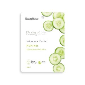 Máscara Facial de Tecido Ruby Skin Pepino - Ruby Rose