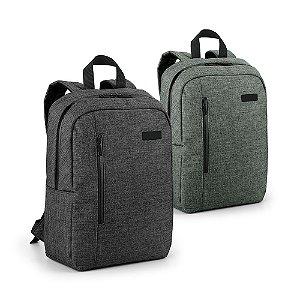 Mochila p/ Notebook 600D de alta densidade - Compartimento forrado, com 2 divisórias almofadadas p/ notebook até 14'' e tablet 97'' Bolso frontal