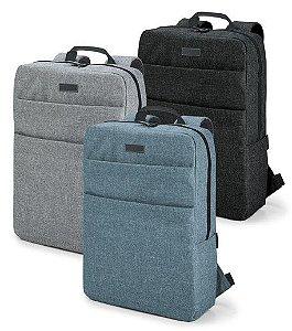 Mochila p/ Notebook 600D de alta densidade - Compartimento c/ divisória almofadada para notebook até 156''