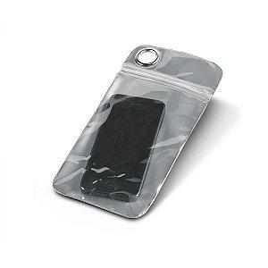 Bolsa para celular PVC Impermeável (não aconselhável imersão) Permite utilização touch Para smartphone 55''