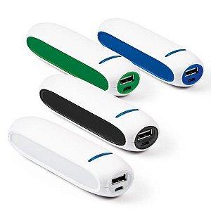 Bateria portátil ABS Bateria de lítio Capacidade: 1800 mAh Tempo de vida ≥ 500 ciclos Com entrada/saída 5V/1A Incluso cabo USB/micro USB para carregar a bateria Fornecida em caixa presente