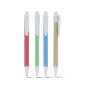 Esferográfica Papel kraft Clipe de plástico 1,5km de escrita