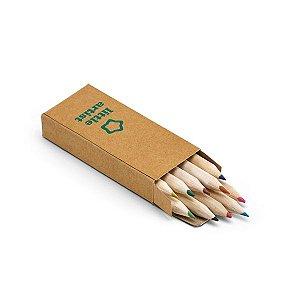 Caixa de cartão com 10 mini lápis de cor Cartão