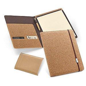 Pasta A4 Cortiça Bloco: 20 folhas não pautadas cor marfim Fornecida em embalagem de non-woven Esferográfica não inclusa
