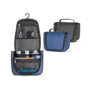 Nécessaire 600D de alta densidade Com vários bolsos interiores e gancho de pendurar
