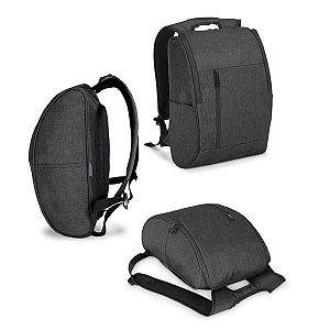 Mochila p/ Notebook 600D de alta densidade - Compartimento c/ 2 divisórias almofadadas p/ notebook até 156'' e tablet 97''