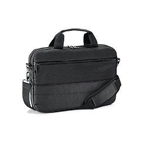 Pasta para Notebook 840D jacquard e 300D Compartimento com divisória almofadada para notebook até 133'' Interior forrado e almofadado 2 bolsos frontais Alça de ombro ajustável, com reforço almofadado Alça para transporte em trolley