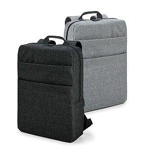 Mochila para notebook 600D de alta densidade Compartimento com divisória almofadada para notebook até 156'' Interior forrado e almofadado Com 2 bolsos frontais Parte posterior e alças almofadadas
