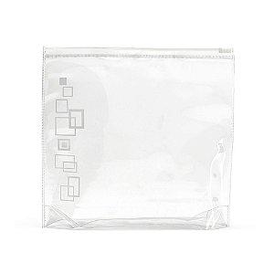 Bolsa de cosméticos hermética PVC Apropriada para transporte em cabine de avião Frascos não inclusos