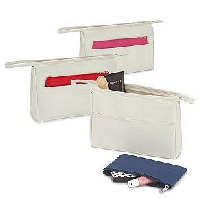 Bolsa de cosméticos Microfibra Com bolso frontal e bolsa multiusos