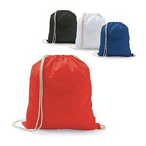 Sacola tipo mochila 100% algodão: 100 g/m²