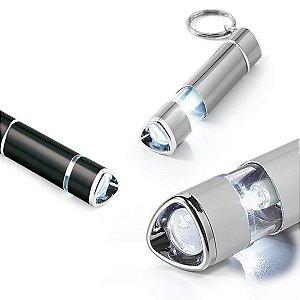Chaveiro Alumínio Com LED Incluso 4 pilhas LR41