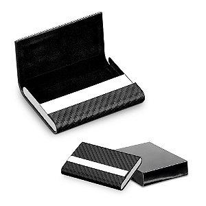 Porta Cartões Metal e Sintético Incluso caixa