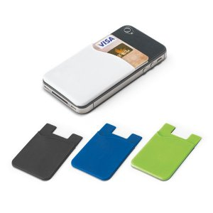 Porta cartões para celular Silicone Com autocolante no verso