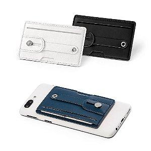 Porta cartões PU Tecnologia de bloqueio RFID Fita ajustável em PU Com autocolante da marca 3M no verso