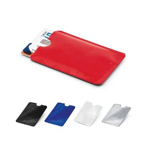 Porta cartões Alumínio Com tecnologia de bloqueio RFID