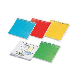 Caderno para colorir 25 desenhos Lápis não inclusos