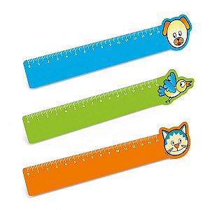 Régua de 15 cm PP flexível
