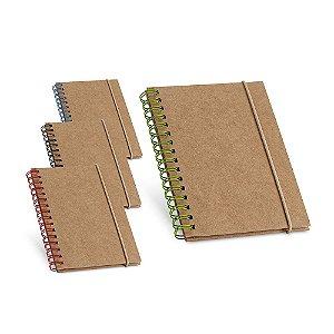 Caderno Cartão Capa dura Com 60 folhas pautadas de papel reciclado