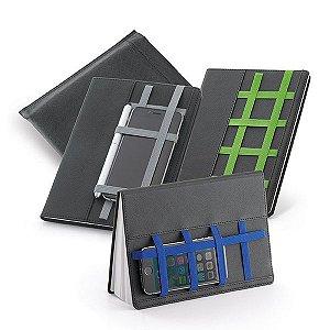 Caderno capa dura C sintético Com 80 folhas não pautadas Fornecido em embalagem de non-woven Esferográfica não inclusa150