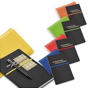 Caderno C sintético Com 96 folhas não pautadas Fornecido em embalagem de non-woven Esferográfica não inclusa140