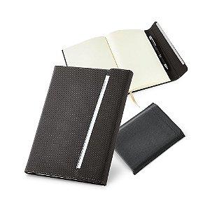 Caderno capa dura C sintético Fecho magnético Com porta esferográfica e 96 folhas não pautadas cor marfim Fornecido em embalagem de non-woven Esferográfica não inclusa148