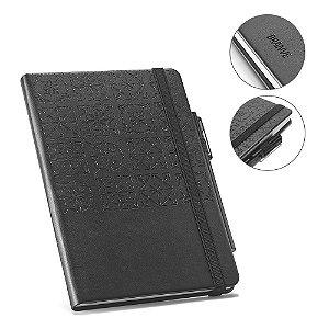 O TILES é um Caderno A5 com capa rígida em imitação de pele com 128 folhas pautadas no seu interior