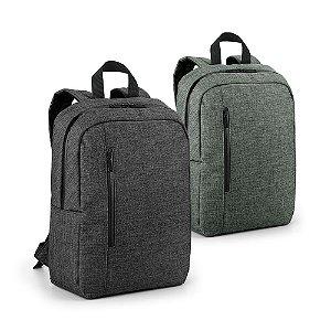 Mochila para notebook 600D de alta densidade Compartimento forrado, com 2 divisórias almofadadas para notebook até 14'' e tablet 97'' Bolso frontal e 1 bolso lateral Parte posterior e alças almofadadas