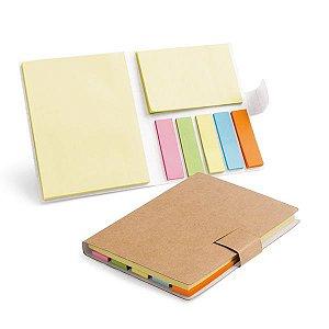 Caderno Cartão 7 blocos adesivados: 25 folhas cada