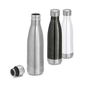 Squeeze Aço Inox c/ Parede Dupla - Capacidade até 510 ml
