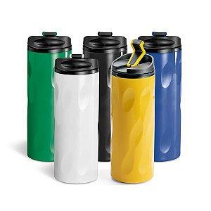 Copo p/ Viagem AS e PP c/ Parede Dupla, tampa e antideslizante na base - Capacidade: 520 ml