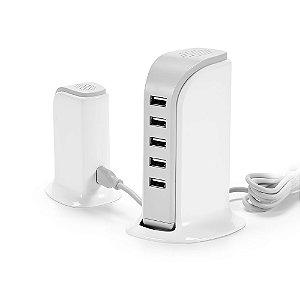 Estação de carregamento USB ABS Com 5 saídas 5V/4A