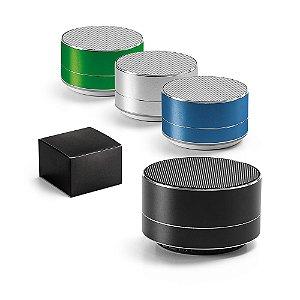 Caixa de Som c/ Microfone Alumínio c/ transmissão por Bluetooth e leitor de cartões TF Com 3W/4Ω Autonomia até 5 h