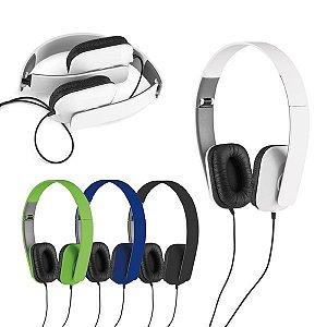 Fone de ouvido dobrável ABS Ajustável Cabo de 1,45 m com ligação stereo de 3,5 mm Fornecido em caixa presente