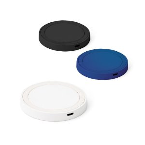 Carregador wireless fast ABS e silicone Com entrada 5V/2A e 9V/167A e potência de carregamento 5W, 75W e 10W
