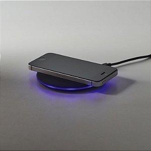 Carregador wireless fast ABS com acabamento emborrachado Input: 5V/2A e 9V/1,67A  Potência máxima de carregamento de 10W Incluso cabo USB/micro USB de 1 m para carregar Compatível com smartphones com tecnologia de carregamento sem fios Fornecido em caixa