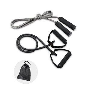 Kit fitness Incluso elástico e corda de pular Fornecido com bolsa em 190T