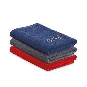 Toalha de Praia Veludo de algodão: 320 g/m² Fornecida c/ sacola em Non-woven (80 g/m²)