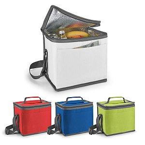 Bolsa térmica 600D Com alça ajustável em webbing e bolso frontal Capacidade até 9 litros Food grade