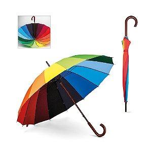 Guarda-chuva 190T pongee Pega em madeira