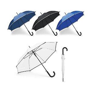 Guarda-chuva Poliéster Com faixa refletora Pega revestida a borracha Abertura automática